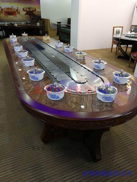 傳送帶餐桌機芯配大理石臺面