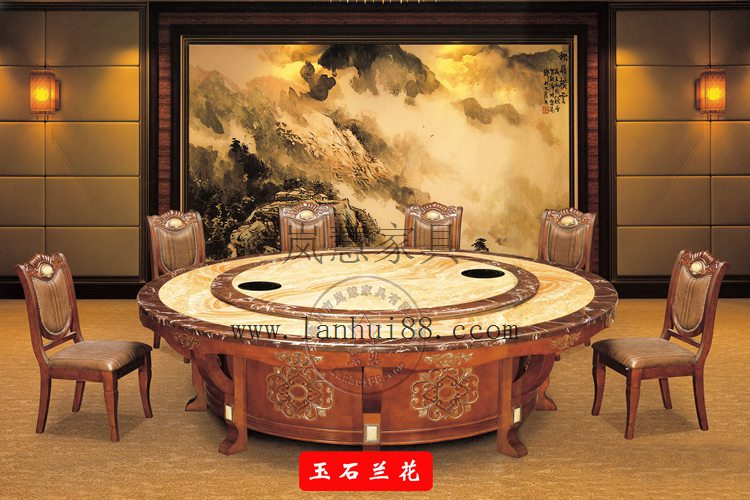 大型豪華電動餐桌轉盤機芯 龍