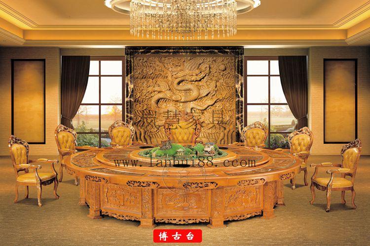 雕花電動餐桌如何制作 中國杰