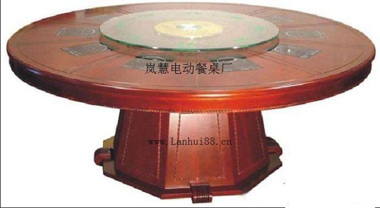 圓形電動火鍋桌子自動玻璃轉